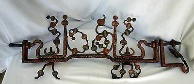 Antique Architectural door or fence metal painted top Folkart wrought iron