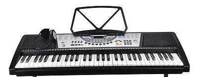 61 Key Keyboard With Headphones And Stand *please Read Listing*