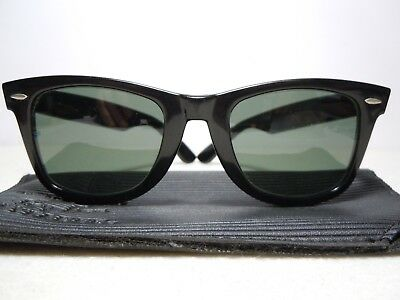 f1689aa746 RAY BAN Wayfarer 5022 L2008 Ebony Vintage 70 s by B L U.S.A. with its gum  folder