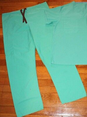 2-PC Genuine Used DOCTOR Surgical SURGEON Nurse Orderly Green SCRUBS ~ M & L