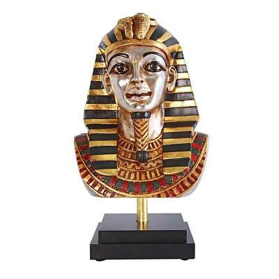"16"" Ancient Egyptian King Tutankhamen Statue Sculpture On Museum Mount"
