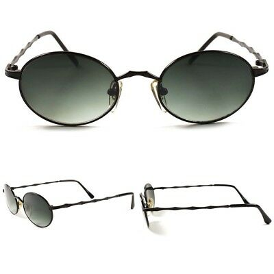 b3e2d8536c9 Oval Round Classic Genuine Vintage 80s Hipster Mens Womens Hippie Sunglasses