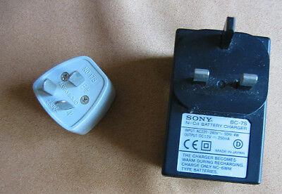 SONY BC-7S Battery Charger for Walkman Cassette MD Discman etc