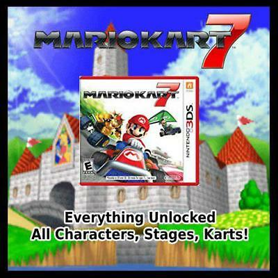 UNLOCKED MARIO KART 7 3DS | All Characters, Karts, Parts, Stages! | Online  Ready