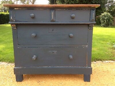 Antique French Pine Chest of Drawers Farrow & Ball shabby chic