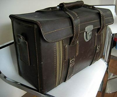 Vintage Camera Equipment or hardware hard Case Freight Container Leather