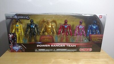 Saban's Power Rangers Movie Team with Goldar 5-inch Metallic Figures Bandai 2016