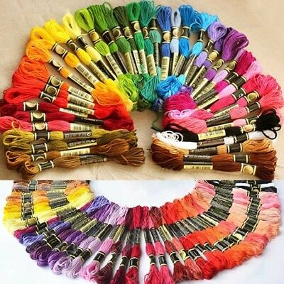 100Pc Cotton  Cross Floss Stitch Thread Embroidery Sewing Skeins Multi Colors