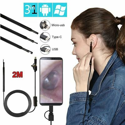 Tool Otoscope Ear Spoon Borescope USB OTG Endoscope Ear Cleaning For Android PC