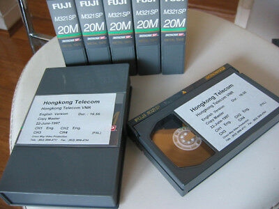 6x assorted recorded vintage Betacam Video Tapes corporate reels footages