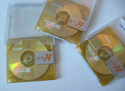 3x DAISO 74 min Minidisc MD Disc used