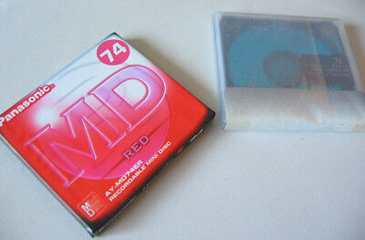 2x MD Discs Panasonic 74 min Minidisc MD Disc new