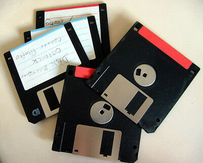 5x 1.44MB Floppy Disks HD DD High Density Double Sided MF2-HD Used d