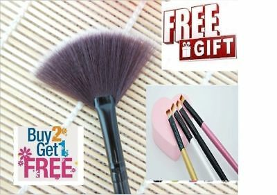 Professional Slim Fan Brush Makeup Blush Highlighter Contour Set + FREE gift