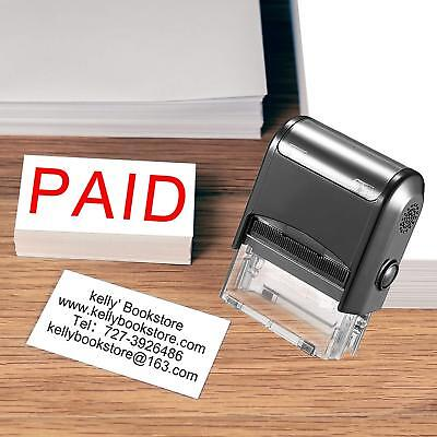 Custom Stamp-Personalized Stamps Self Inking Rubber Return Address,3,5,8Lines