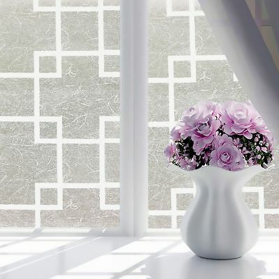 Glue Flowers Frosted Opaque Privacy Adhesive Grille Glass Sticker Window Film