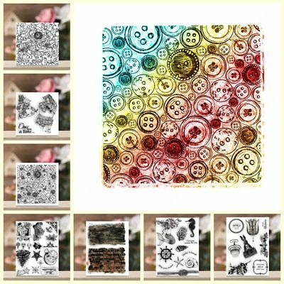 Clear Decorative Scrapbooking DIY Crafts Silicone Rubber Transparent Stamp