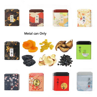 Storage Iron Square Boxes Herb Stash Jar Metal Tin Cans Sealed Container