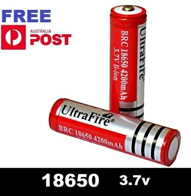 Ultrafire BRC 18650 Rechargeable 3.7v Li-Ion Lithium Battery - batteries