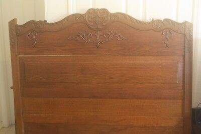Antique Victorian Bed Golden Oak Full Size Reclaim Wood or Restore