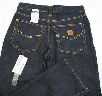 23e016db NWT Men's 31x32 Carhartt 1889 Relaxed Fit Straight Leg Darkwash Jeans MSRP  $55
