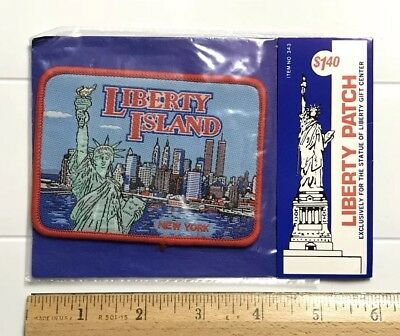 NIP Liberty Island New York City Statue of Liberty Harbor Souvenir Woven Patch