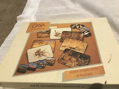 The Casa Collection Placemats of Distinction Australiana Art - Set Of Six