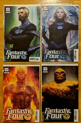 Fantastic Four 1 Lot Artgerm Variants Mr Fantastic Invisible Woman Thing Torch