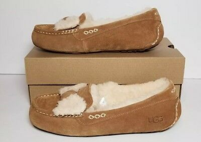 4823a7188bf UGG ANSLEY FUR Bow Women s Size 11 Chestnut New In Box 1019768 ...