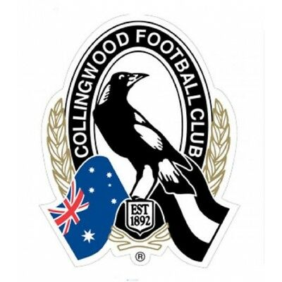 Collingwood Magpies Mega Logo Static Cling Car Decal Sticker Official AFL