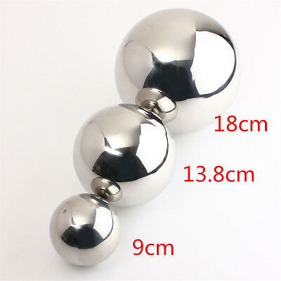 Stainless Steel Mirror Sphere Polished Hollow Ball 9/13.8/18cm Garden Ornamen CG