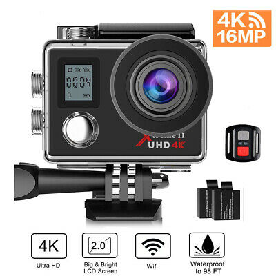Campark Action Camera 4K HD WiFi Waterproof Camcorder Sports Cam Remote Control