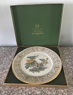 Vintage Lenox 1971 Boehm Bird Plate Goldfinch Collectors Plate
