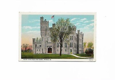 Illinois State University, Normal IL Cook Hall (Old Castle) A Rare Postcard, ISU