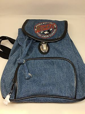 Walt Disney Mickey Mouse Authentic Collection Embroidered Backpack bag denim