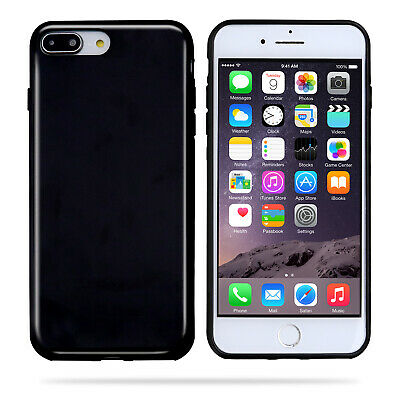 For Apple iPhone 7Plus 8 Plus Jet BLACK Slim Soft Rubber Skin Phone Cover Cases