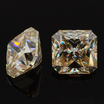 1-3ct moissanite Loose Square Radiant Cut Yellow Color For Jewelry Free Shipping