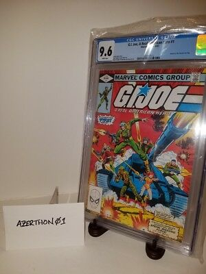 G.I. JOE A Real American Hero #1 CGC 9.6 (1982 Series) Marvel Comics New Holder