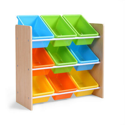 Multi-Color Toy Boxes Bins Organizer Kids Storage Playroom Bedroom Shelf