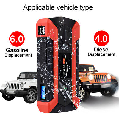 4 USB Car Jump Starter Pack Booster Charger Battery Power 89800mAh Ban Portable