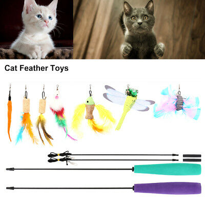 Cat feather toyInteractive Train Mouse Butterfly Bird Dragonfly Catcher