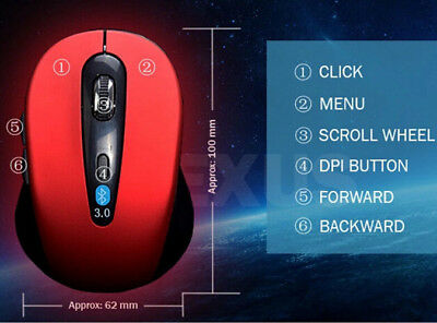 Mini Mouse Hot Wireless For tablet Mice Bluetooth Optical PC Laptop 1600 DPI
