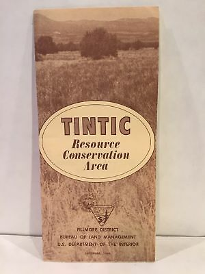 1966 TINTIC RESOURCE CONSERVATION AREA Fillmore District Utah Map and Brochure