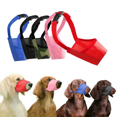 Dog Muzzle Anti Stop Bite Bark Chewing Mask Adjustable Pet Mouth Control-Tool