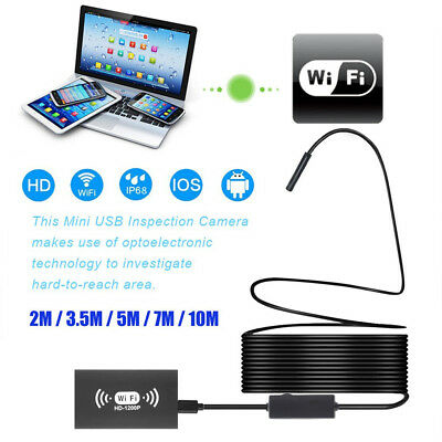 7M Endoscope 6 LED WiFi Inspection HD Camera endoscopique Android iPhone PC