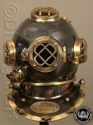 Antique Vintage U.S Navy Mark V Model Diving Divers Helmet by vikingsreplica