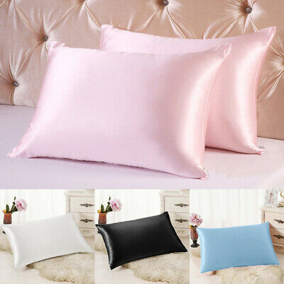 1PC Soft Mulberry Pure Silk Pillowcase Bed Cushion Covers Queen Standard AU