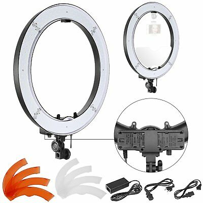 """ZOMEI 14"""" LED Double Way Photography Ring Light Dimmable 5500K Lighting Photo MA"""
