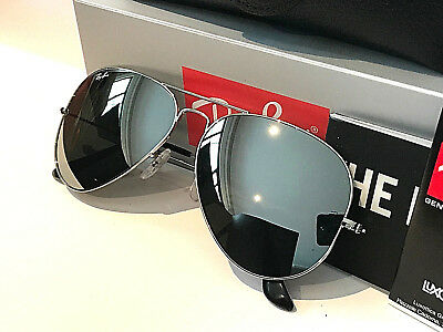 Rayban Aviator Rb3026 Rayban Size 58 Mirror Sunglasses With Silver Frame Unisex