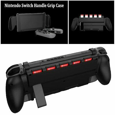 Shockproof Handle Grip Case Cover Guard Bracket w/Game Slot For Nintendo Switch